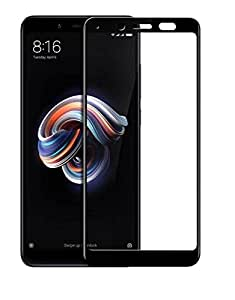 Remembrand Premium Black Coloured Tempered Glass for Mi Redmi 5 | 0.3 mm, Oil Coated Tempered Glass Screen Protector only for : Redmi 5
