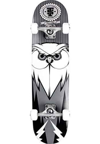 TITUS Complete-Board Blackbird Owl, Black-red-White, 7.5