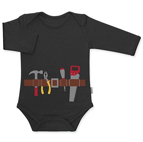 eval und Halloween Kostüm Baby Langarm Body 50/56 (0-3M) Schwarz (Große Baby-halloween-kostüme)