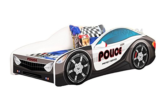 *Autobett Kinderbett Bett Schlafzimmer Kindermöbel Spielbett Nobiko 160×80 Matratze Lattenrost (13)*