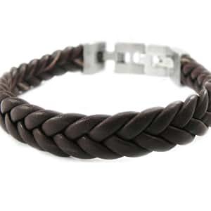 Bracelet for men 'Tony' leather / steel.
