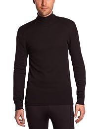 Odlo - Camiseta interior térmica de acampada y senderismo para hombre, tamaño 40 / 42 (M), color negro