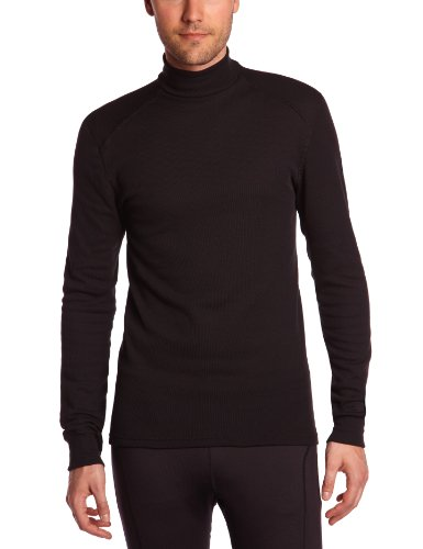 Odlo Herren Shirt Long Sleeve Turtle Neck Warm Schwarz