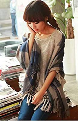 Women Scarf New Thick Sweater Shawl Pure Fringe : everything five pounds (or less!)