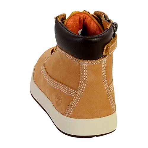 Timberland Unisex Kids  Davis Square Classic Boots  Beige  Wheat Naturebuck 231   2 5  35 EU