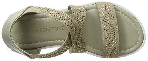Marco Tozzi Cool Club 48223, Sandales Bout Ouvert Fille Marron (Pepper 324)