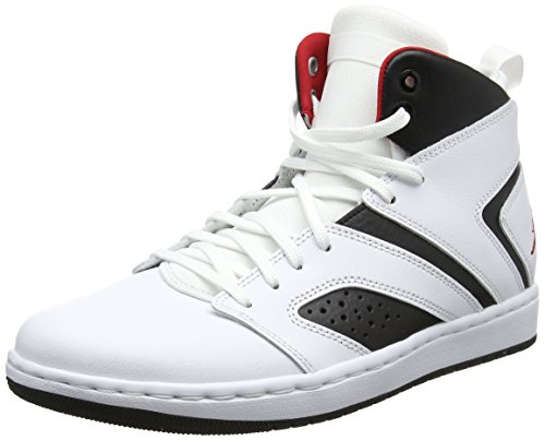 Nike Herren Jordan Flight Legend Basketballschuhe Mehrfarbig (White/Gym Red-Black 112) 44 EU - Nike Herren Flight Basketball-schuhe