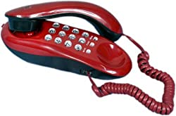 Lemish Landline Orientel KX-T333 Greco Button Telephone Corded Phone for Office and Home Purpose-Red