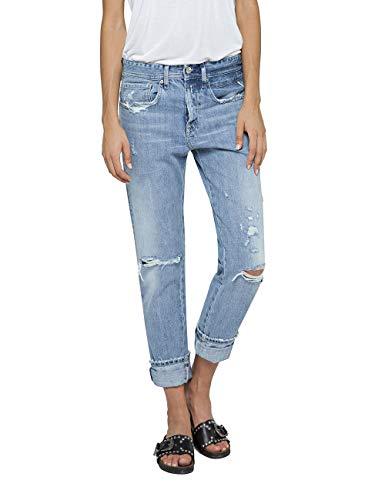 Replay Damen HETER Boyfriend Jeans, Blau (Light Blue 10), W28/L28 (Herstellergröße: 28) Destroyed Boyfriend-jeans