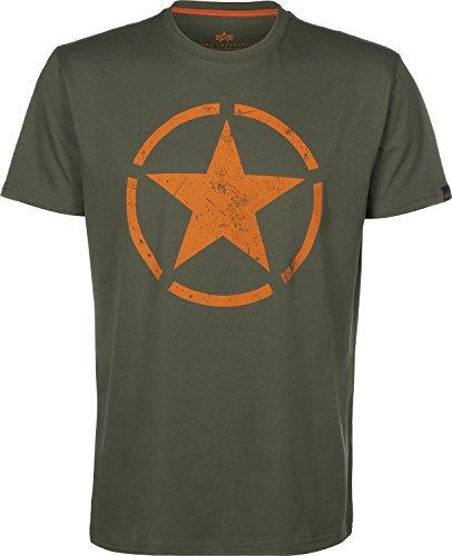 Preisvergleich Produktbild Alpha Industries Herren Oberteile/T-Shirt Star Olive XL