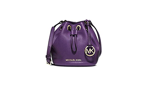 1a7291e68613a0 ... inexpensive michael michael kors jules drawstring crossbody bucket bag  in purple violet amazon shoes bags fd23e