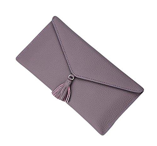 Envelope Bag Nappa Semplice Borsa Borsa Casual Signore Leggeri Mano Telefoni Frizione Portafoglio Black