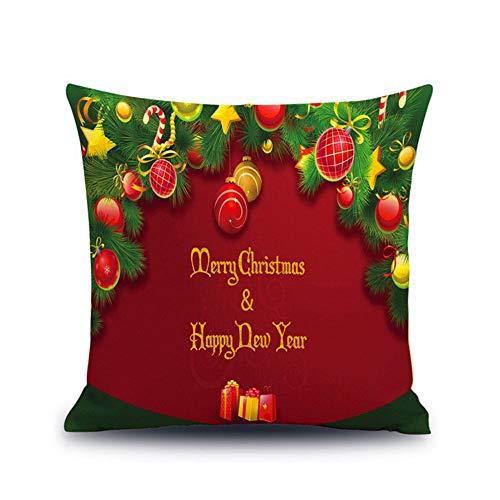 Weihnachten und Neujahr Geschenk-Nette Tier Leinen Kissenkissen Back-Office-Auto mit einem Kissenbezug auf dem Kissen Weihnachten Frohes Neues Jahr-Festival ist frei Kissen 45x45cm