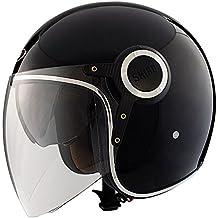 Shiro Jet Casco SH235 Bullet, Negro, Tamaño L