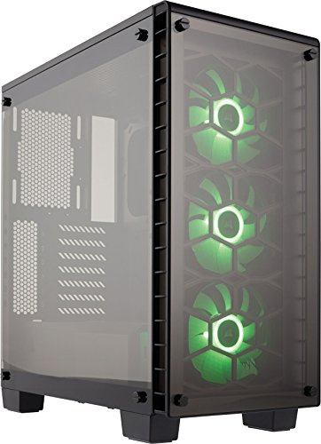 Corsair-Crystal-Series-CC-9011101-WW-Tempered-Glass-ATX-Mid-Tower-Case-Transparent