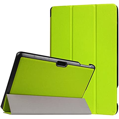 DouKou Dragon touch x10 Funda, Ultra Slim Ligera Smart-c¨¢scara Cuero Case, Carcasa con Stand Funci¨®n y Auto-Sue?o/Estela para Dragon touch x10 Android Tablet 10.6 pulgadas (Verde)