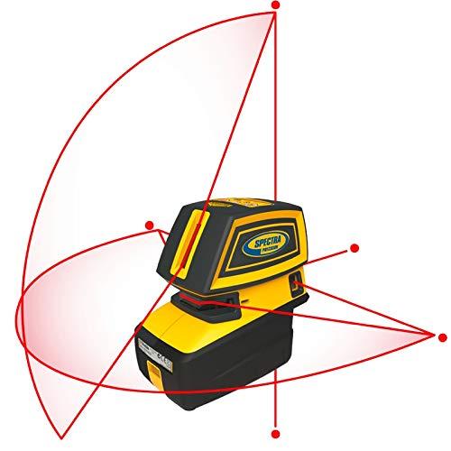 rabo SpectraPrecision 5.2XL - Livella laser autolivellante, 1 orizzontale e 1 verticale, 5 punti con supporto da parete e treppiede, batterie, custodia, garanzia 2 anni, classe laser 2, verde