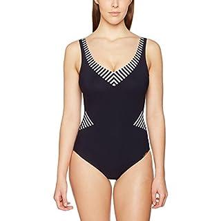 Sunflair Damen Badeanzüge Basic, Blau (Nachtblau 30), 50 (Herstellergröße: 50E)