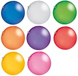 CMG R510X Wasserball Strandball ca. 26cm Wasserspielzeug TRANSPARENTE Farben (5x Blau)
