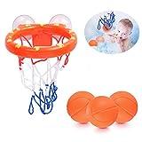 Basketballkorb Badewanne, Badespielzeug Baby Kleinkind, Badespielzeug Basketball mit 3 Bällen, Kleinkind-Badespielzeug für Kinder Jungen Mädchen Babys