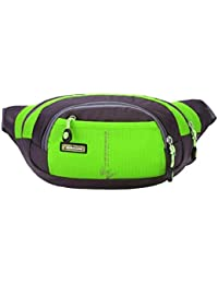 Green : Malloom Running Bum Bag Travel Handy Hiking Sport Fanny Pack Waist Belt Zip Pouch