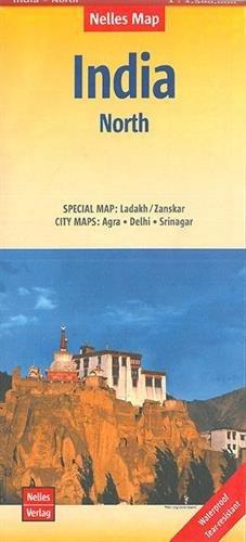 India North nel.map Ladakh-Zanskar-Agra-Delhi-Srinagar par Nelles Verlag