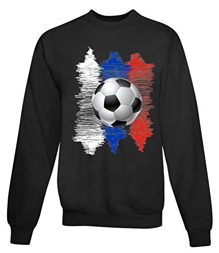 Billion Group | Russia | Football Illustration | Sport Series | Women's Unisex Sweatshirt Noir