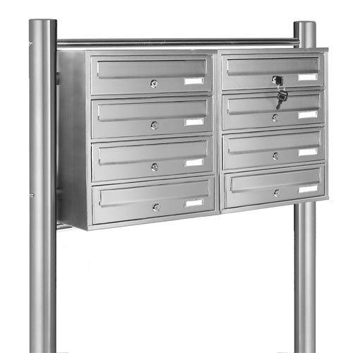 PRIMOPET Homelux V2A Edelstahl Standbriefkasten MBS08 Briefanlage Mailbox Postkasten mit 8 Brieffächer - 3