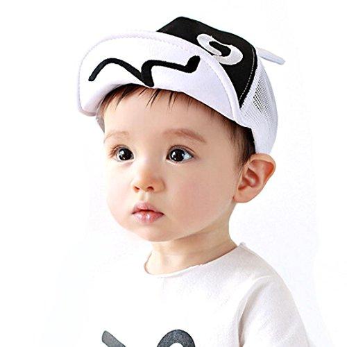 LuckyGirls Baseballmütze Kinder Hut Sommer Mesh Weiche Krempe Bördelnden Sonnenhut (Weiß)