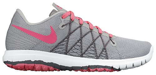 Nike Mädchen Flex Fury 2 (Gs) Turnschuhe Rosa / Gris / Blanco (Wolf Grey / Hypr Pnk-Drk Gry-Wht)