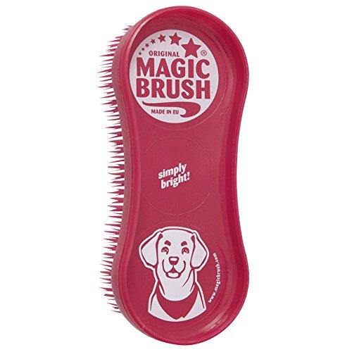 Fellpflege mit Magic Brush Büste (Rot)