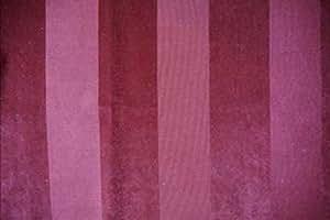 Dolce Tissu ameublement rayures velours bordeaux par Thevenon au metre