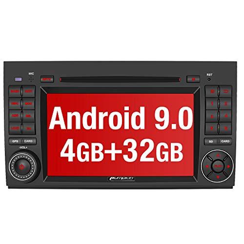 PUMPKIN Android 9.0 Autoradio Radio für Mercedes-Benz A Klasse/B Klasse/Vito mit Navi 4GB Unterstützt Bluetooth DAB + USB CD DVD Android Auto WiFi MicroSD 2 Din 7 Zoll Bildschirm