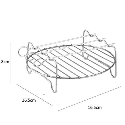 Ersatz-grill-racks (Flushzing Edelstahl Ersatz für HD9220 HD9232 HD9233 HD9641 HD9646 Grill Air Fryer Rack-Double-Layer-Spieße Backblech)