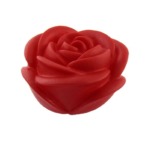 sourcingmap® LED Rosa, Fiore Lampade Notturne Da tavolo Decorazione Luce Rossa