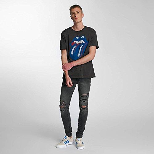 Amplified Herren Oberteile/T-Shirt Rolling Stones Blue und Lonesome Grau