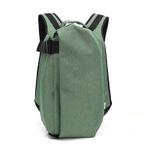 Z&N Panno di Oxford creativo casual zaino zaino impermeabile del computer viaggio all'aperto palestra borsa attrezzature da campeggio uomini e donneblack A12L green