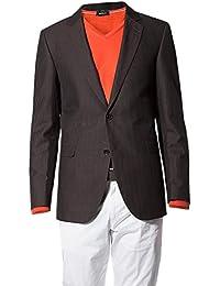 Strellson Premium Herren Sakko Baumwolle Anzugjacke unifarben, Größe: 98, Farbe: braun