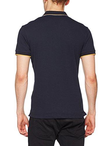Gas Herren Poloshirt Ralph/S DET. SS Blu (Navy Blue)