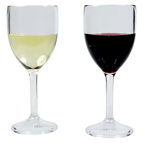 064eaa37bd3307 Viva Haushaltswaren 2 unzerbrechliche Weingläser aus Hochwertigem  Kunststoff (Polycabonat) ca. 300.