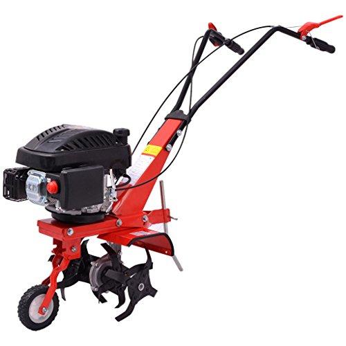 vidaXL Benzin Gartenfräse Motorhacke Bodenhacke Kultivator Bodenfräse 5 PS 2,8 kW Rot