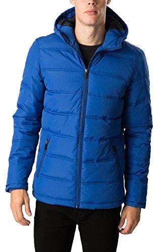 Uomo Threadbare Genesis Piumino Inverno Giacca Con Cappuccio Cobalt Blue