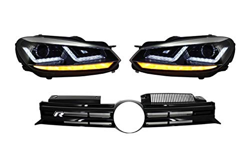 Kitt Cofgvwg6r20 cm central avant Grille avant Xenon Chrome LED dynamique Séquentielle Turning lumières 2008 +