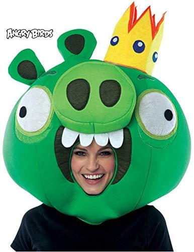 Horror-Shop Angry Birds King Pig Maske für Computerspiel Fans (Bird Angry Maske)