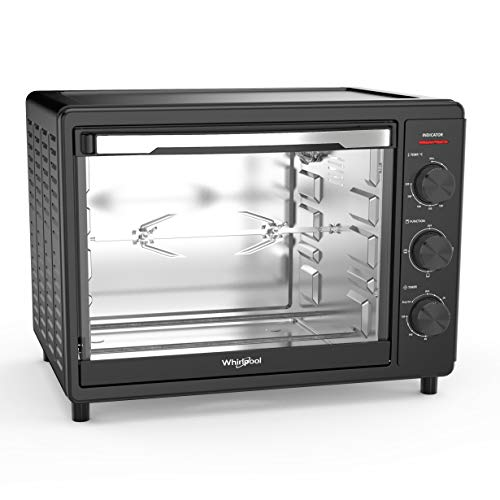 Whirlpool Magicook 30L OTG with Rotisserie, 1600W, Twin Heater, Black