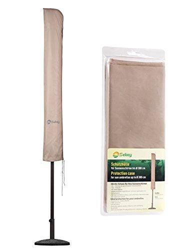 Sekey® Schutzhülle für Ø 300 cm Sonnenschirm, Abdeckhauben für sonnenschirm,100% Polyester, Taupe