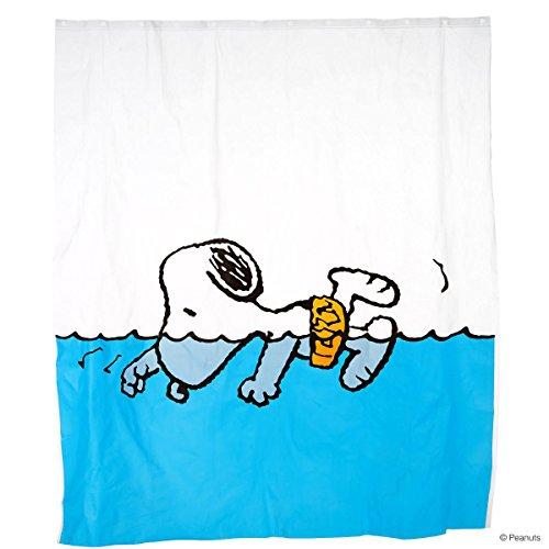 BUTLERS PEANUTS Duschvorhang Snoopy schwimmend- Spritzschutz - EVA, Polyethylen - 180 x 200 cm Peanuts Snoopy Vintage
