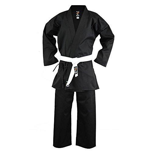 Playwell Martial Arts Karate schwarz Medium Gewicht Vinex Hemd Uniform-5/180cm -