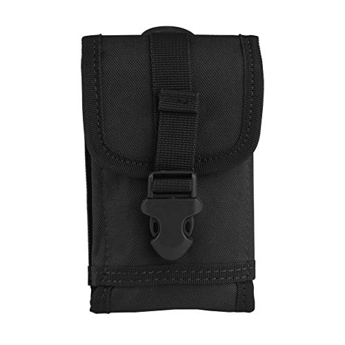 Ran\'s L Tactical Smartphone, Molle Phone Tasche, Security Pack Carry Accessory Nylon CJ/SJB01 (Schwarz)