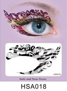 Party Augen Makeup Tattoo Spitze Aufkleber Halloween -HSA018 Sticker Tattoo - FashionLife (Zebra-augen Halloween Make-up)